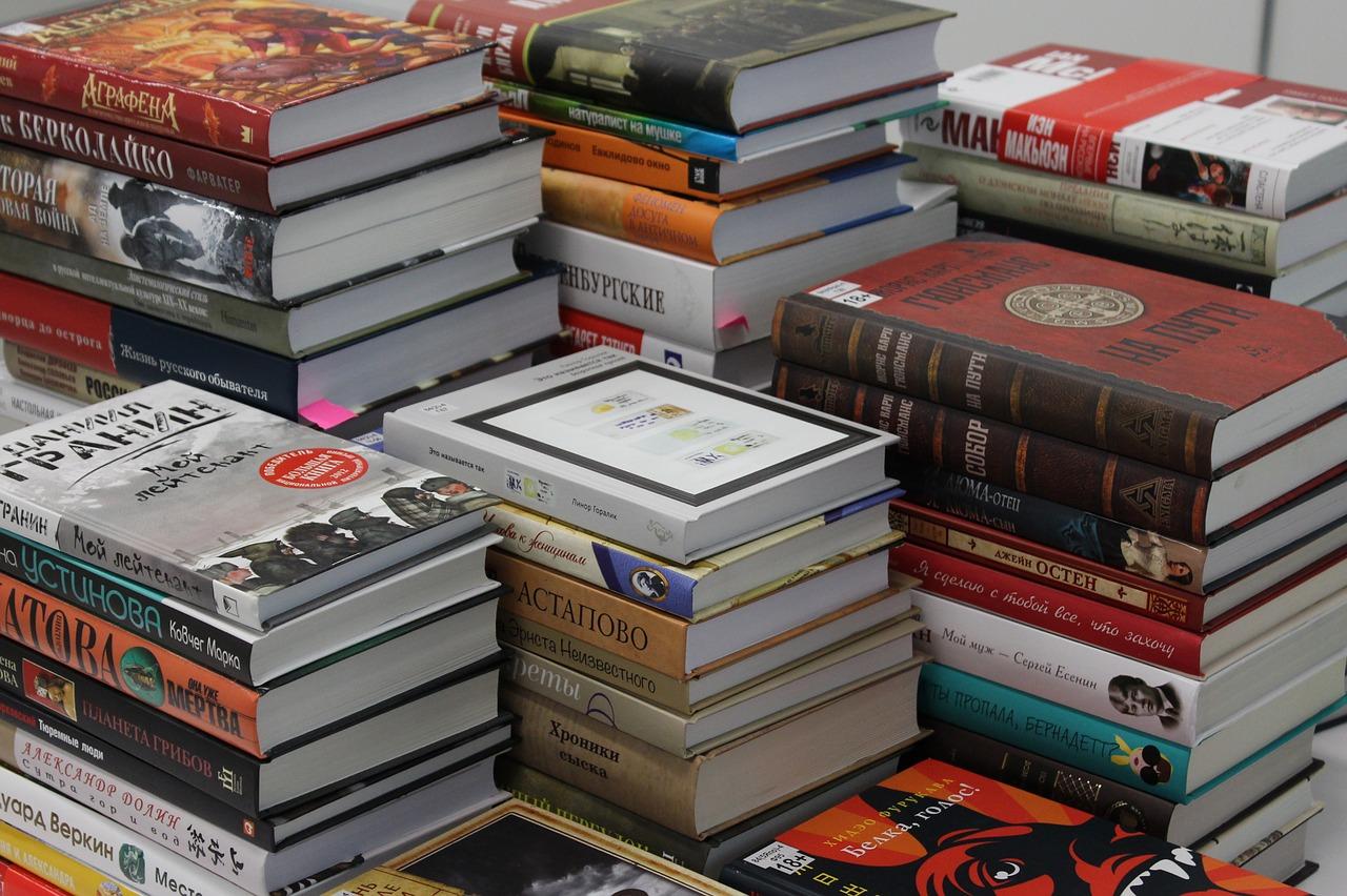 Pila libros feria del libro
