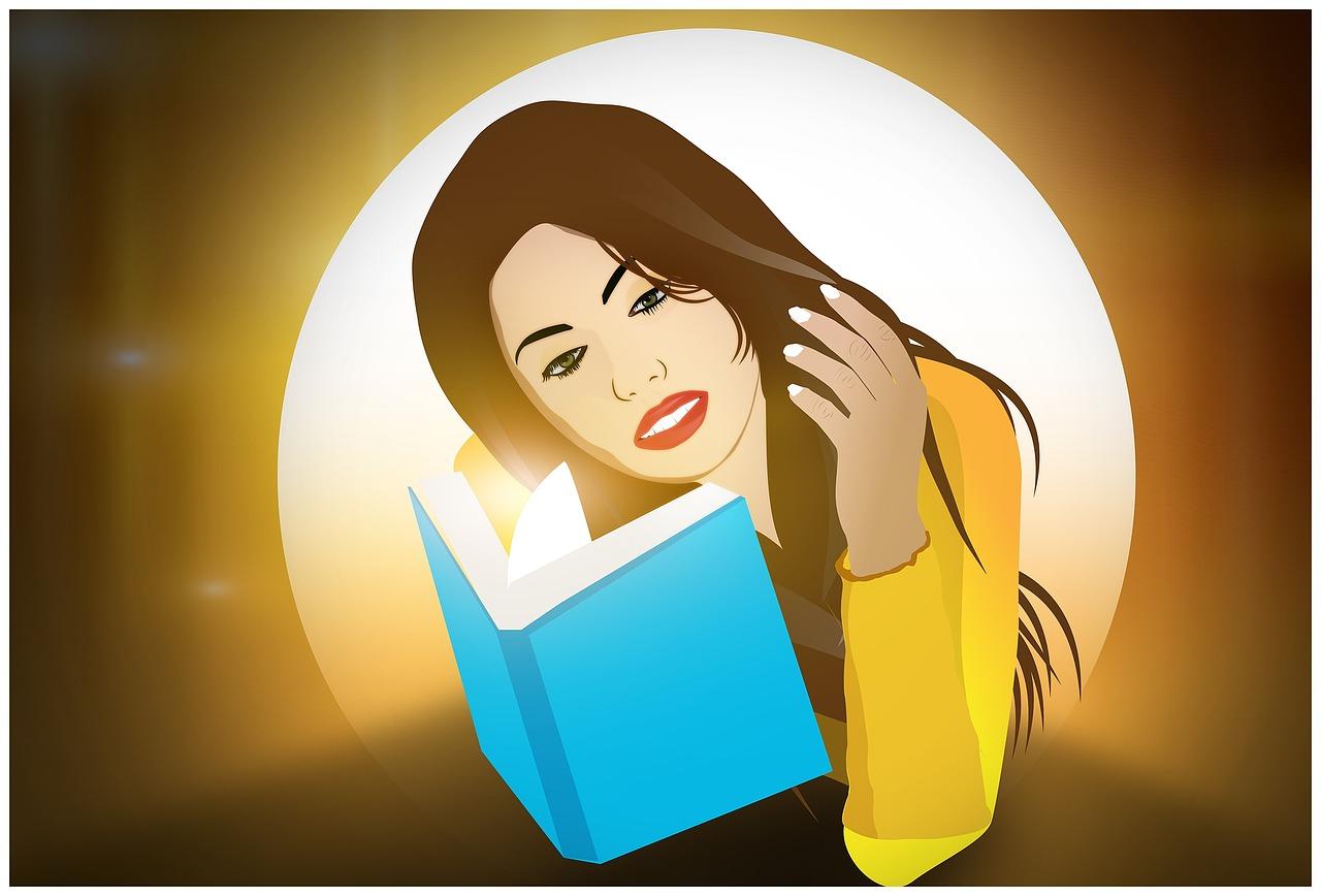 libros gratis para jovenes dibujo chica leyendo libro
