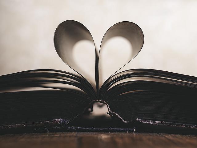 Foto libro con paginas en forma de corazon